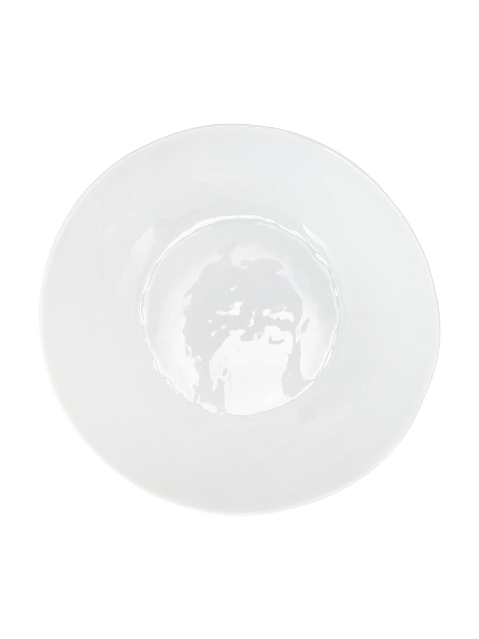 Ciotola centrotavola con superficie irregolare Porcelino, Porcellana, volutamente irregolare, Bianco, Larg. 33 x Prof. 37 cm