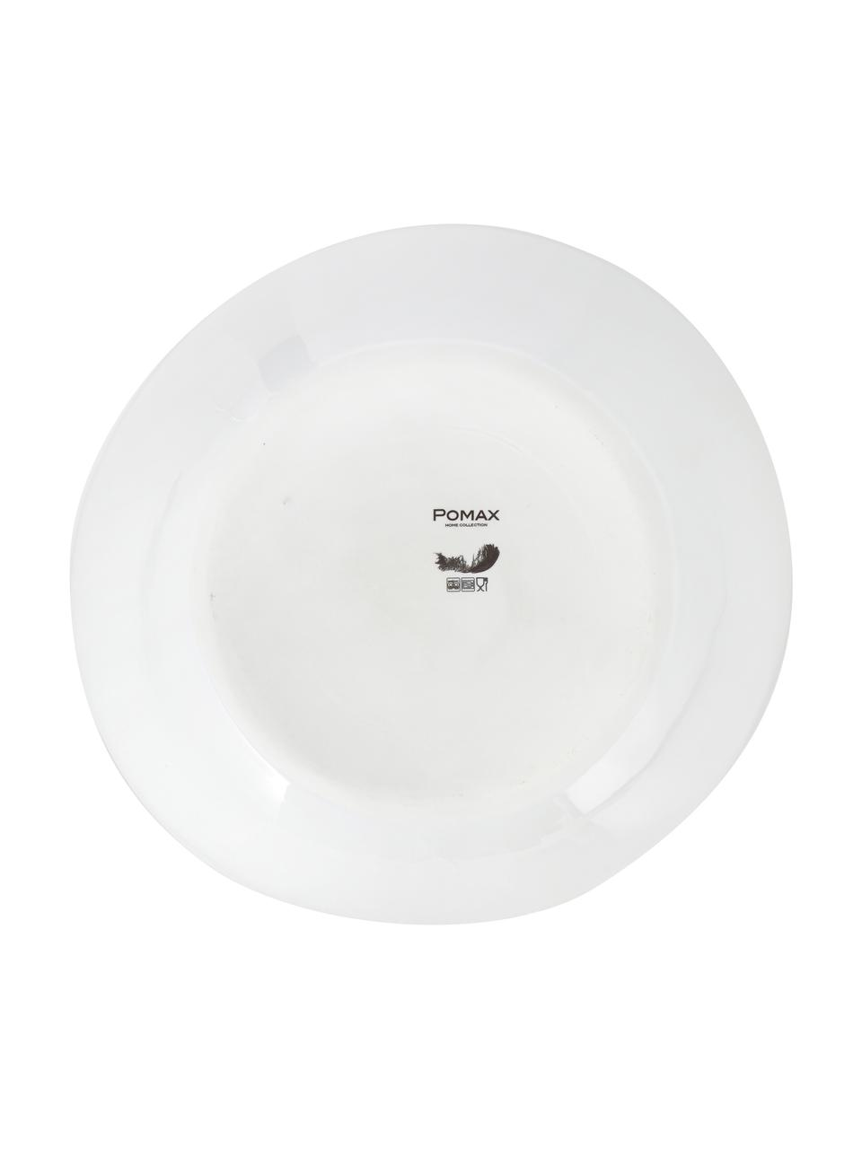 Ovale Schüssel Porcelino mit unebener Oberfläche, B 33 x T 37 cm, Porzellan, gewollt ungleichmäßig, Weiß, B 33 x T 37 cm