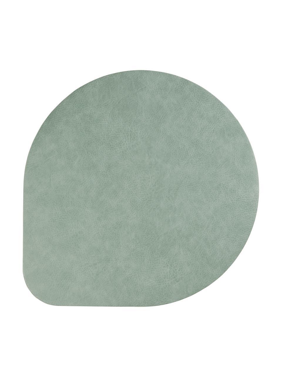 Kunstleder-Tischsets Povac, 2 Stück, Kunstleder (PVC), Mintgrün, Ø 37 cm