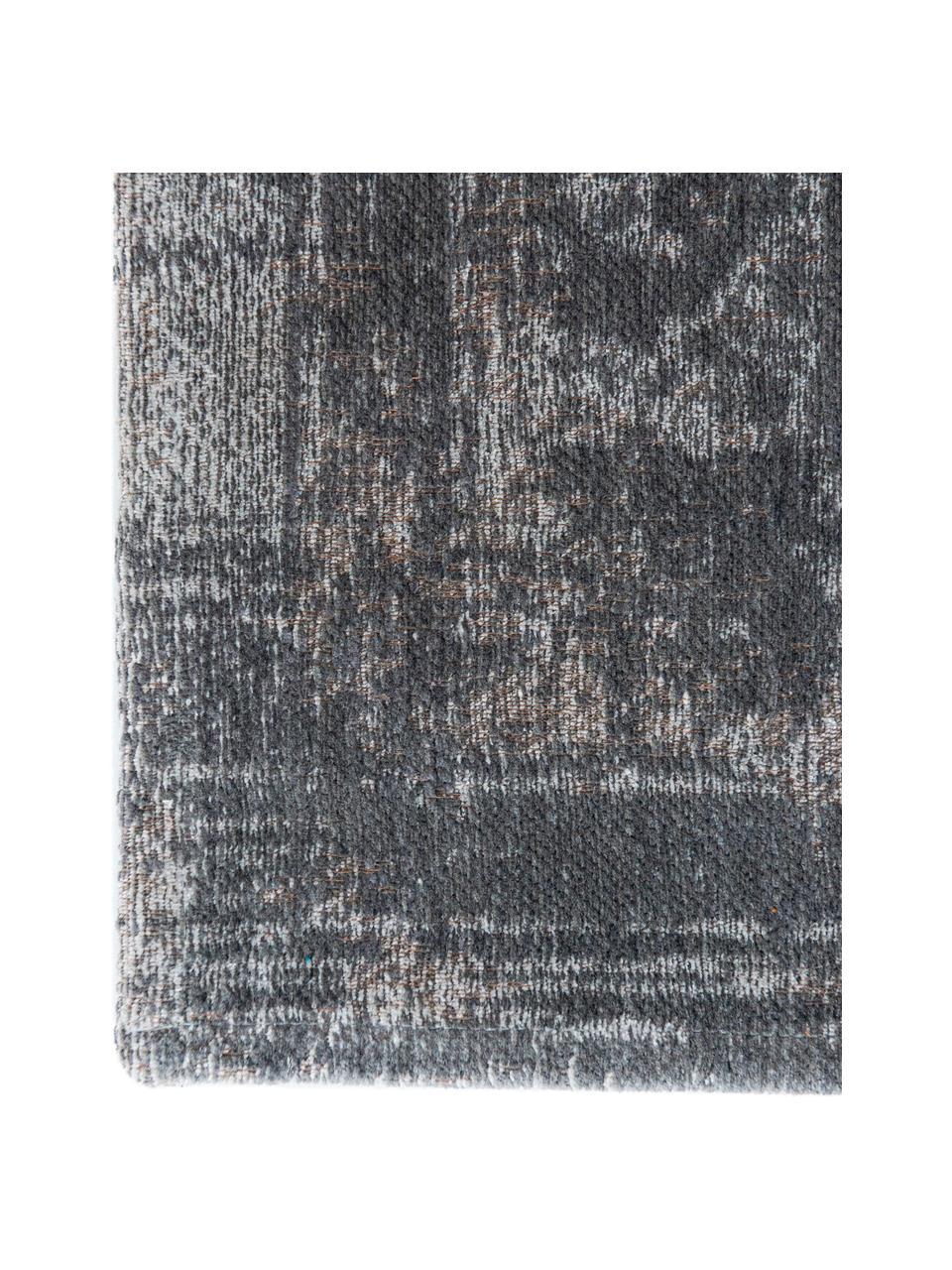 Dywan szenilowy w stylu vintage Medaillon, Szary, beżowy, S 80 x D 150 cm (Rozmiar XS)
