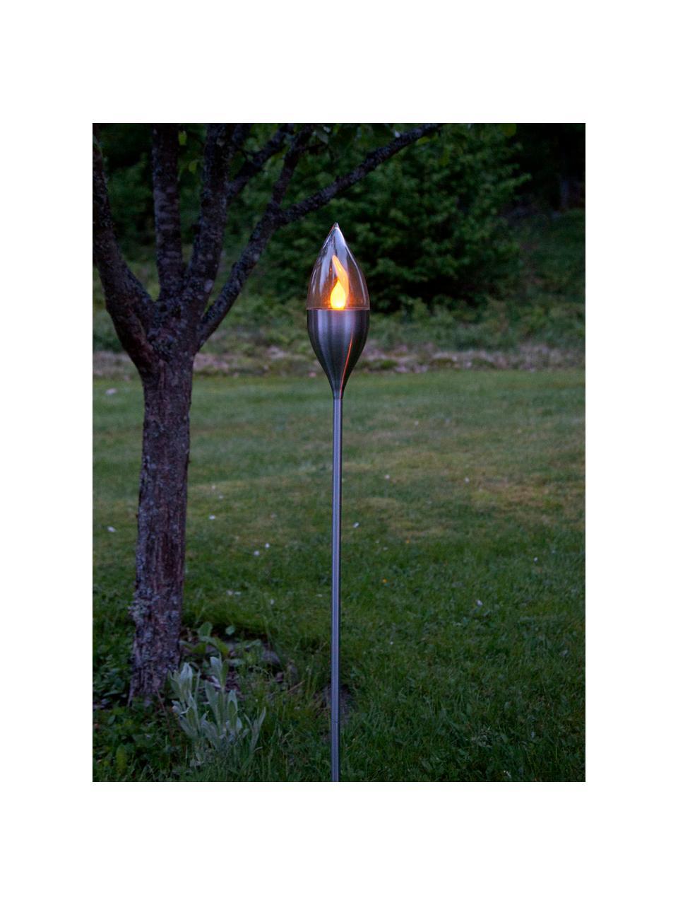 Solární venkovní svítidlo Olympos, Ocel, transparentní