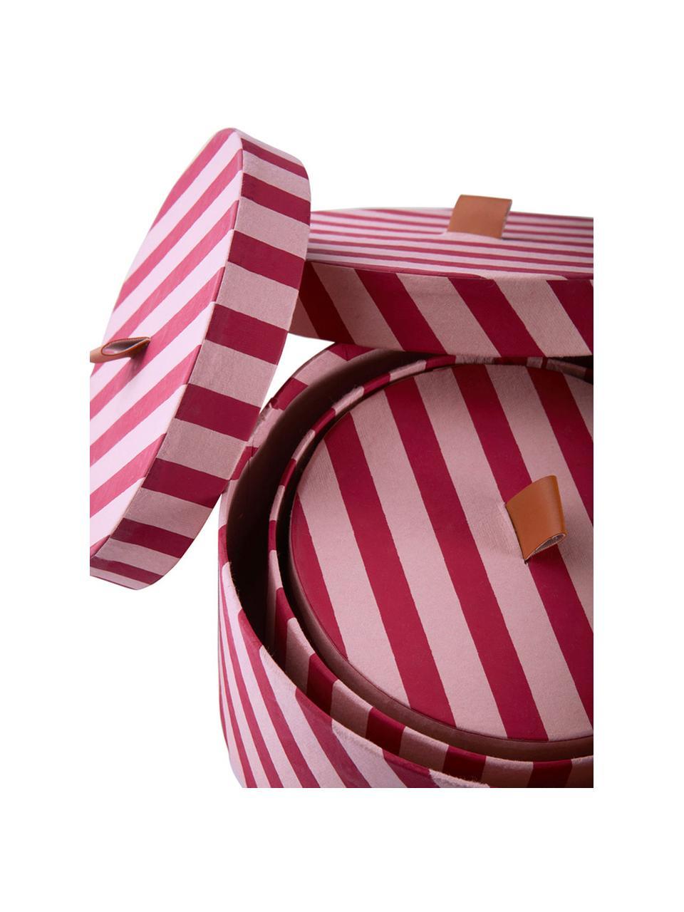 Aufbewahrungsboxen-Set Dizzy, 3-tlg., Pappe, Pink, Sondergrößen