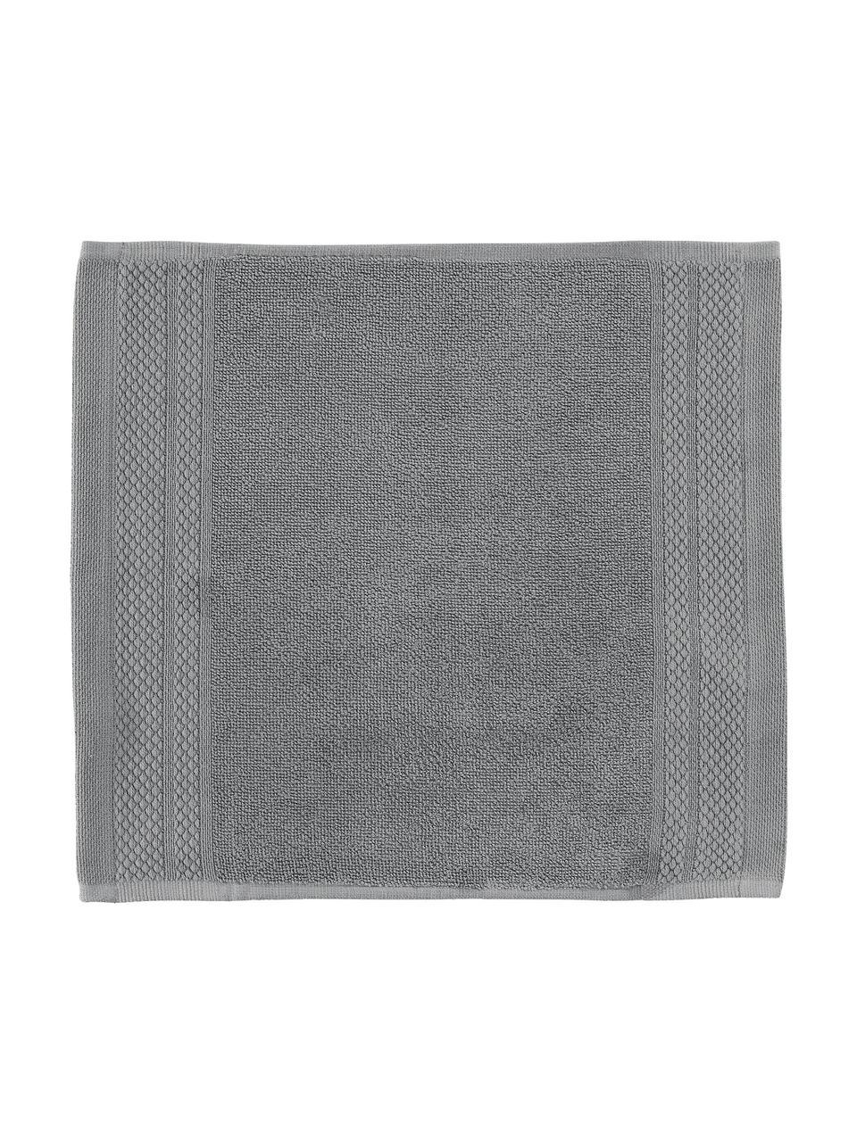 Asciugamano con bordo decorativo classico Premium, Grigio scuro, Asciugamano per ospiti XS