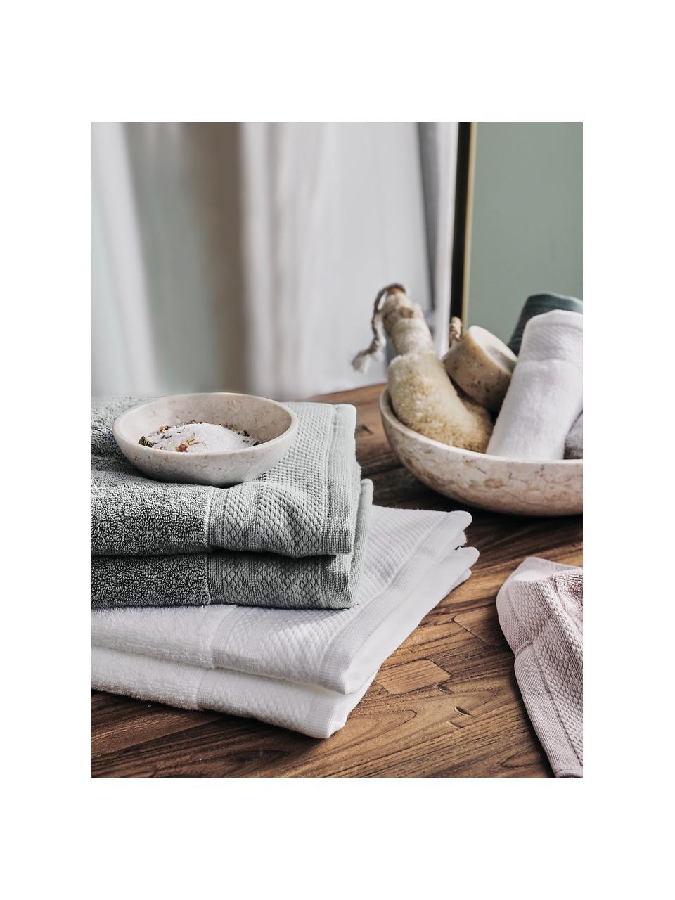 Handtuch Premium in verschiedenen Größen, mit klassischer Zierbordüre, Dunkelgrau, XS Gästehandtuch