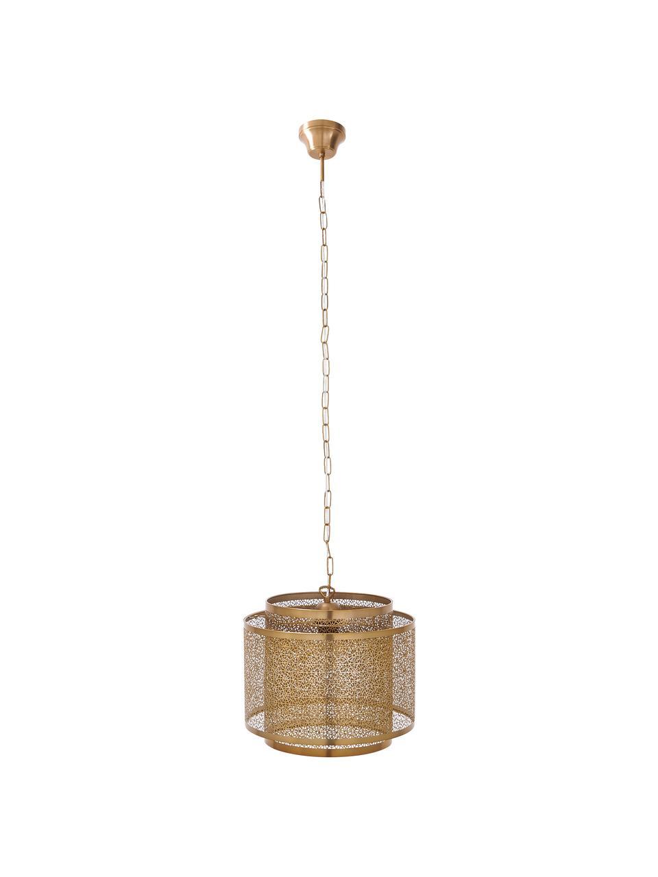 Boho hanglamp Hermine van metaal, Messing, Mat messingkleurig, Ø 35  x H 28 cm