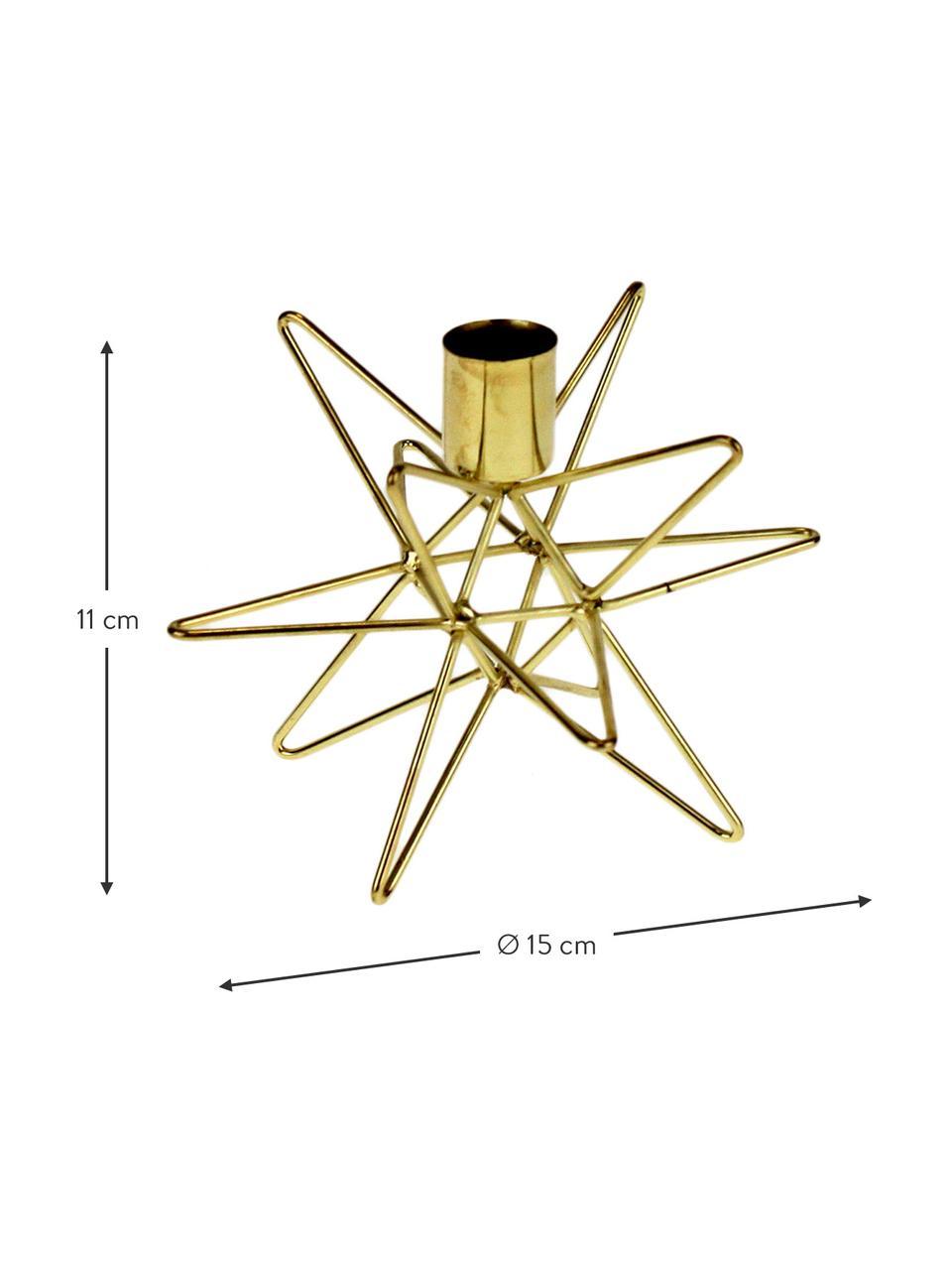 Kerzenhalter Cosma, Metall, lackiert, Messingfarben, Ø 19 x H 12 cm
