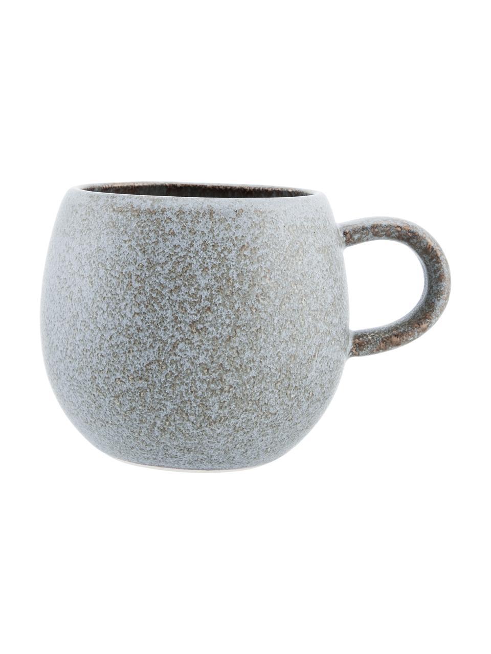 Tasse à thé faite main Addison, 3élém., Gris, beige, blanc