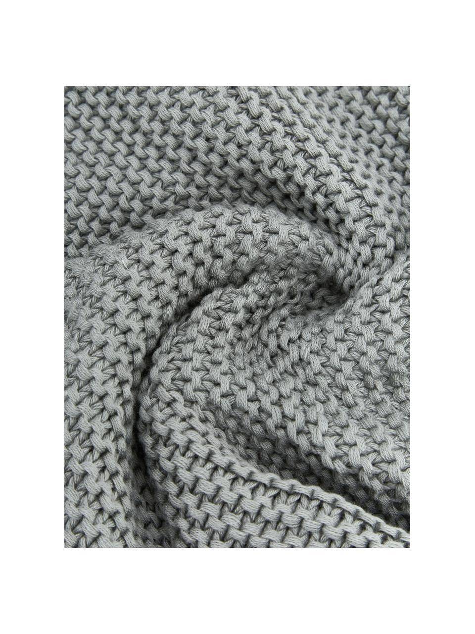 Strick-Kissenhülle Adalyn aus Bio-Baumwolle in Salbeigrün, 100% Bio-Baumwolle, GOTS-zertifiziert, Salbeigrün, 60 x 60 cm