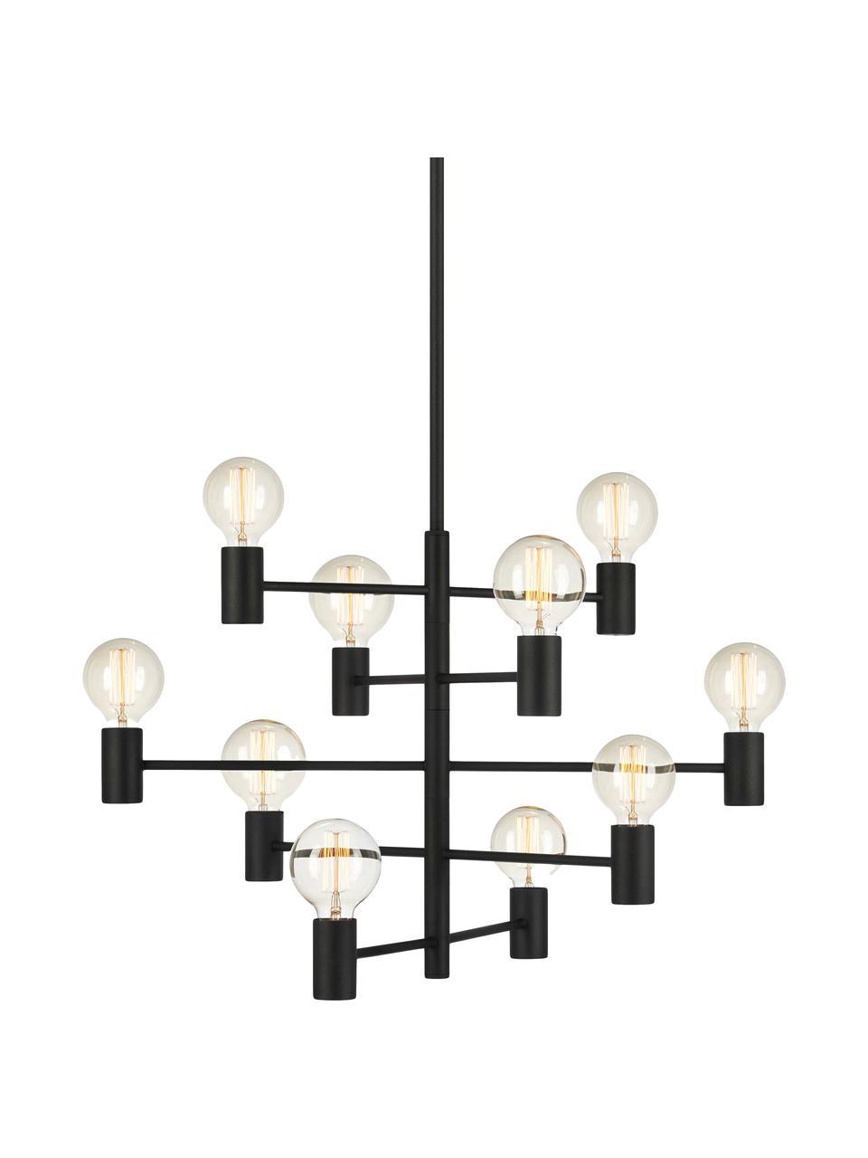Duży żyrandol Paris, Lampa: czarny Kabel: transparentny, Ø 80 cm