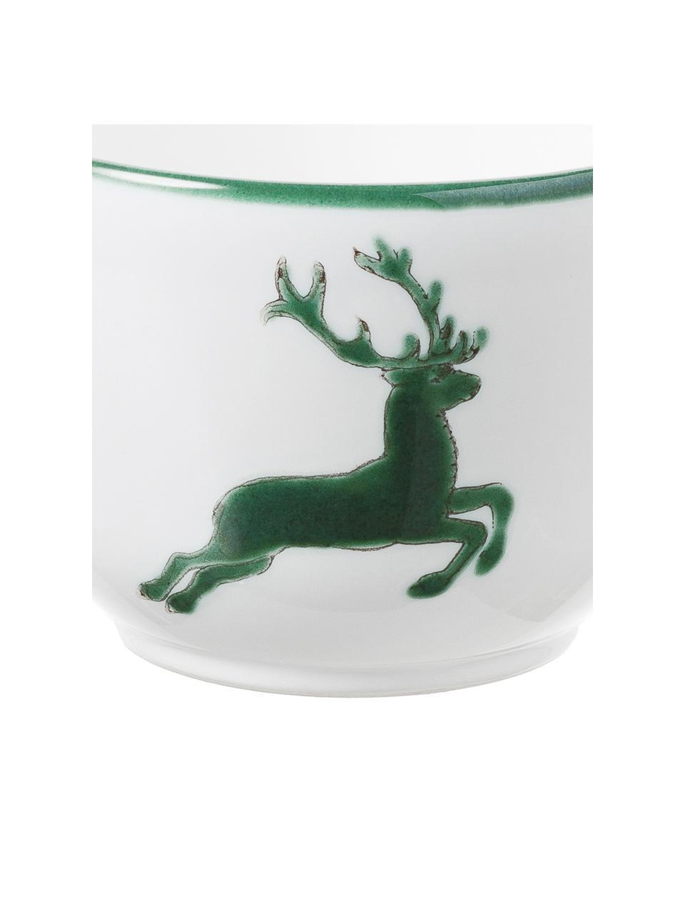 Tazza da te dipinta a mano Classic Grüner Hirsch, Ceramica, Verde, bianco, 190 ml
