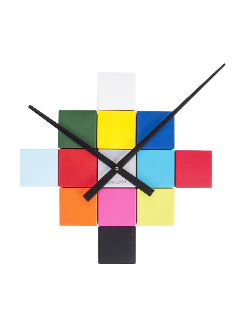 Orologio da parete fai-da-te Cubic, Materiale sintetico, Multicolore, Larg. 6 x Alt. 6 cm