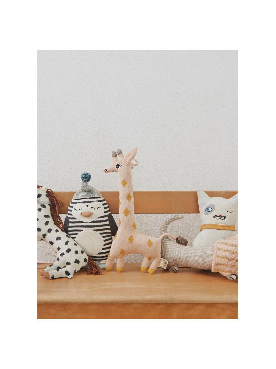 Poduszka do przytulania Bob, Bawełna, Złamana biel, czarny, zielony miętowy, pomarańczowy, S 18 x W 26 cm