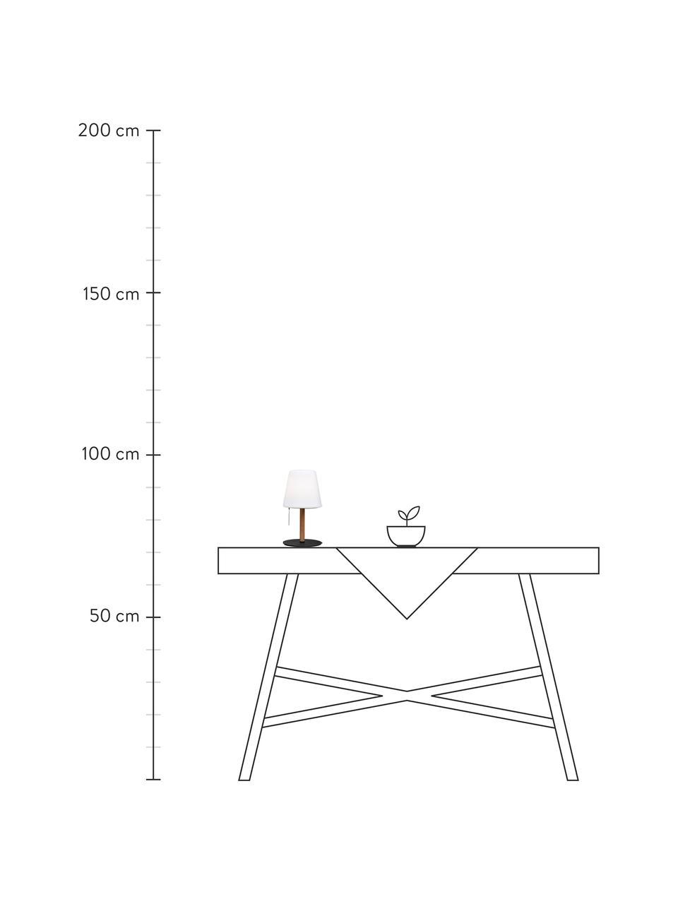 Kleine Mobile Dimmbare Leuchte Northern mit Flammen-Effekt zum Stellen oder Stecken, Lampenschirm: Kunststoff, Sockel: Metall, beschichtet, Weiß, Braun, Schwarz, Ø 17 x H 30 cm
