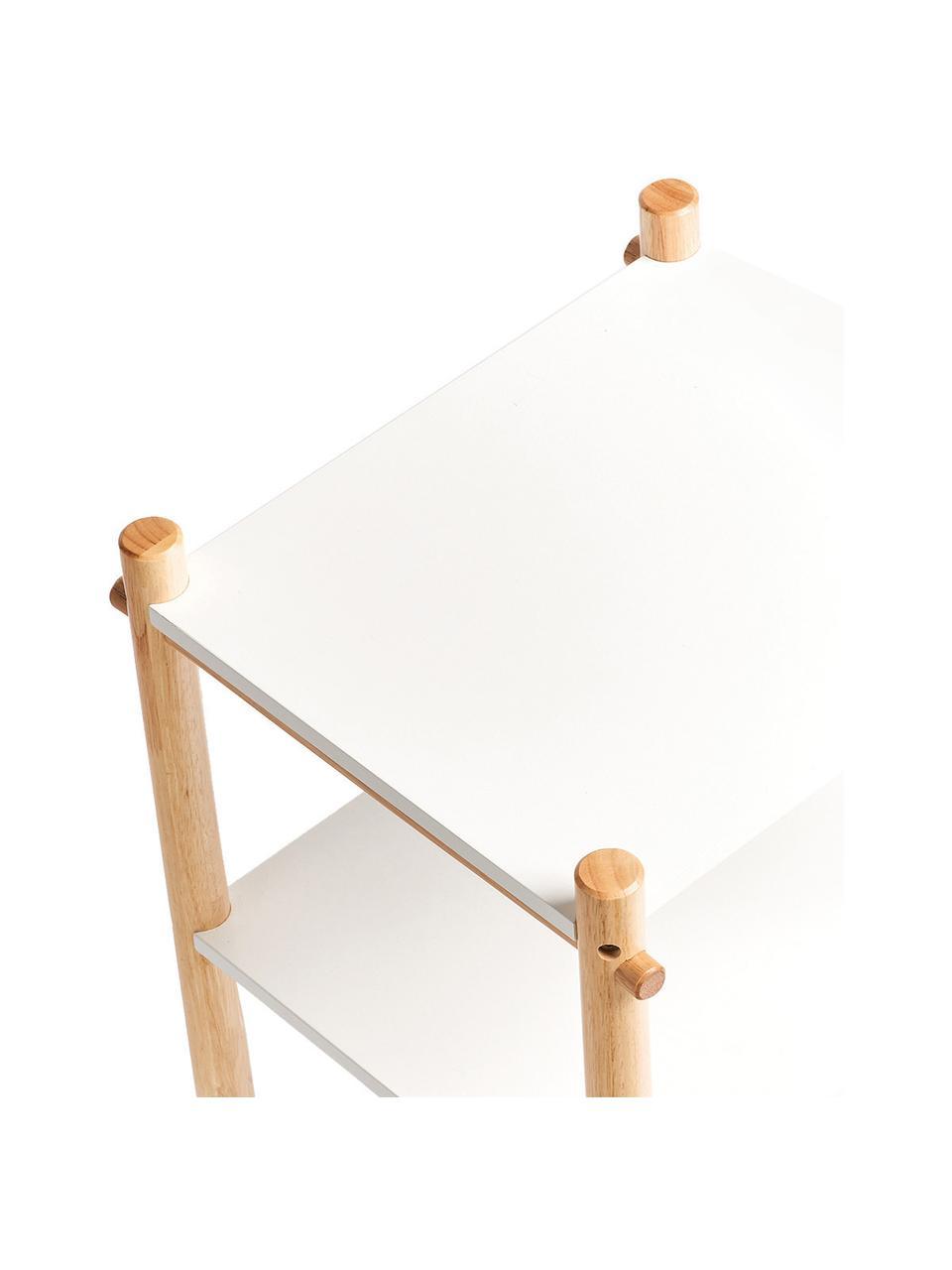 Kinder-Regal Loko, Gestell: Kiefer mit Kunststoffbesc, Weiß, Beige, 36 x 59 cm
