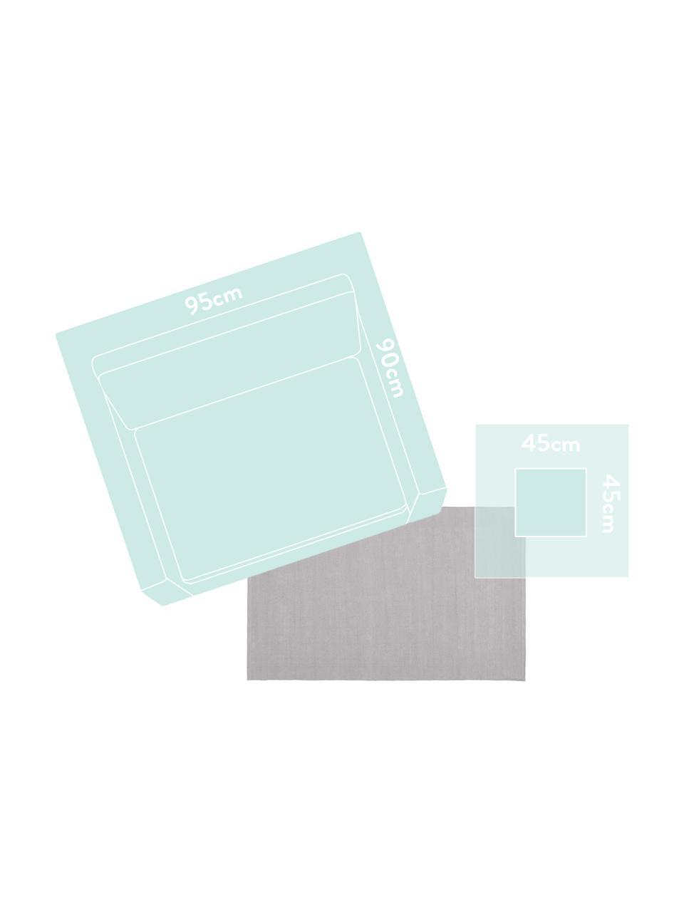 Dünner Baumwollteppich Agneta in Grau, handgewebt, 100% Baumwolle, Grau, B 200 x L 300 cm (Größe L)