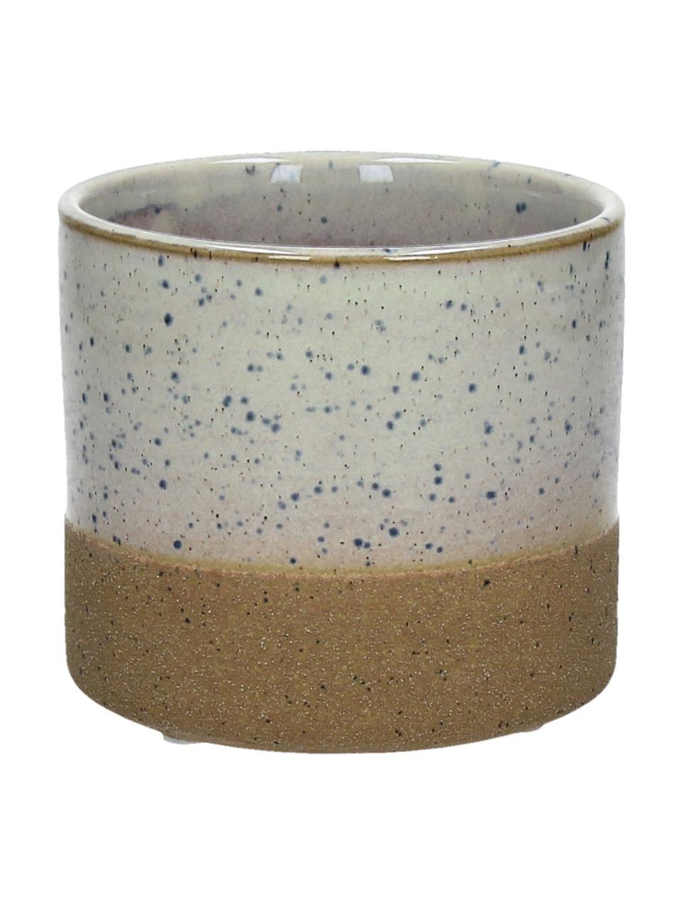 Osłonka na doniczkę Suna, Piaskowiec, Brązowy, biały, szary, Ø 11 x W 10 cm