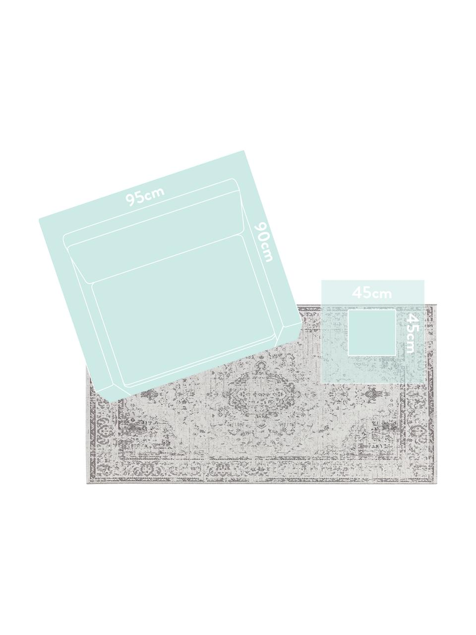 In- & Outdoor-Teppich Cenon im Vintagelook, 100% Polypropylen, Creme, Grau, B 190 x L 290 cm (Größe L)