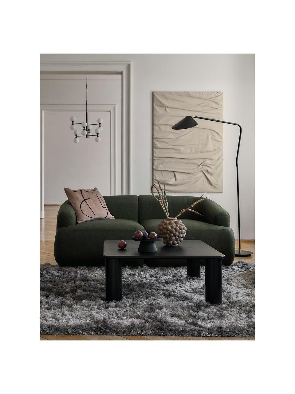 Lámpara de lectura grande Neron, Pantalla: metal con pintura en polv, Cable: cubierto en tela, Negro, An 105 x Al 171 cm