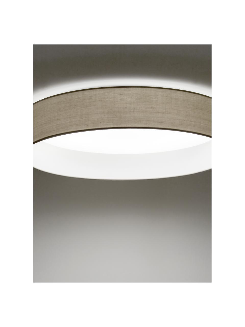 LED-Deckenleuchte Helen in Taupe, Diffusorscheibe: Kunststoff, Taupe, Ø 52 x H 11 cm