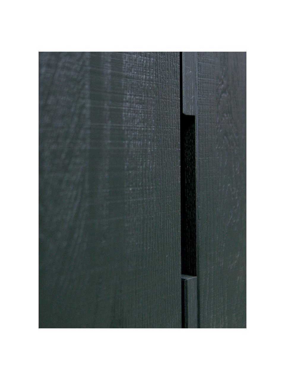 Credenza alta in legno Silas, Piedini: metallo verniciato, Nero, Larg. 85 x Alt. 149 cm