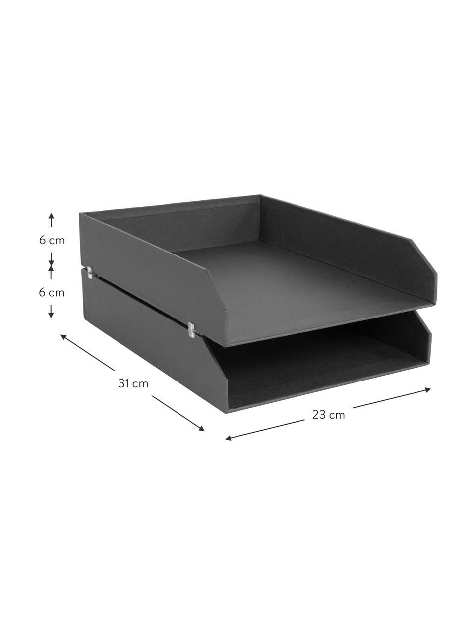 Dokumenten-Ablagen Hakan, 2 Stück, Fester, laminierter Karton, Schwarz, B 23 x T 31 cm