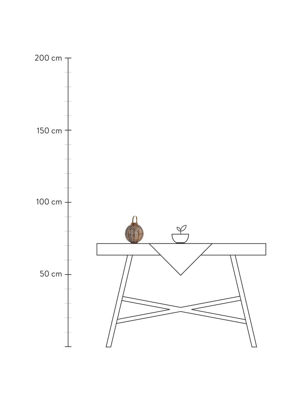 Lanterna solare da esterno Enino, Lampada: acciaio rivestito, Ramato, Ø 23 x Alt. 24 cm