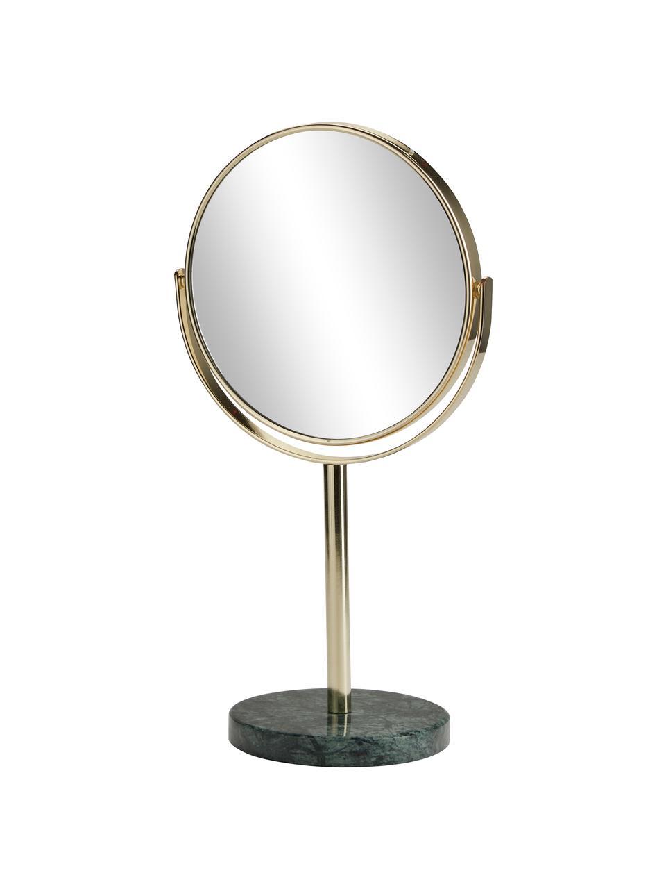 Kozmetické zrkadlo s mramorovým podstavcom Ramona, Odtiene zlatej, zelená