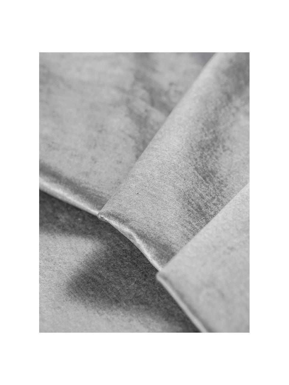 Divano letto 3 posti in velluto grigio chiaro Byron, Grigio chiaro, Larg. 250 x Prof. 105 cm