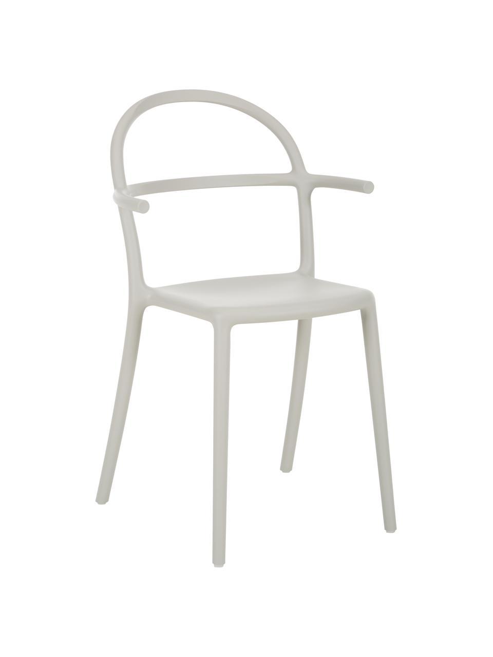 Krzesło z tworzywa sztucznego Generic, 2 szt., Modyfikowany polipropylen, Szary, S 52 x G 51 cm