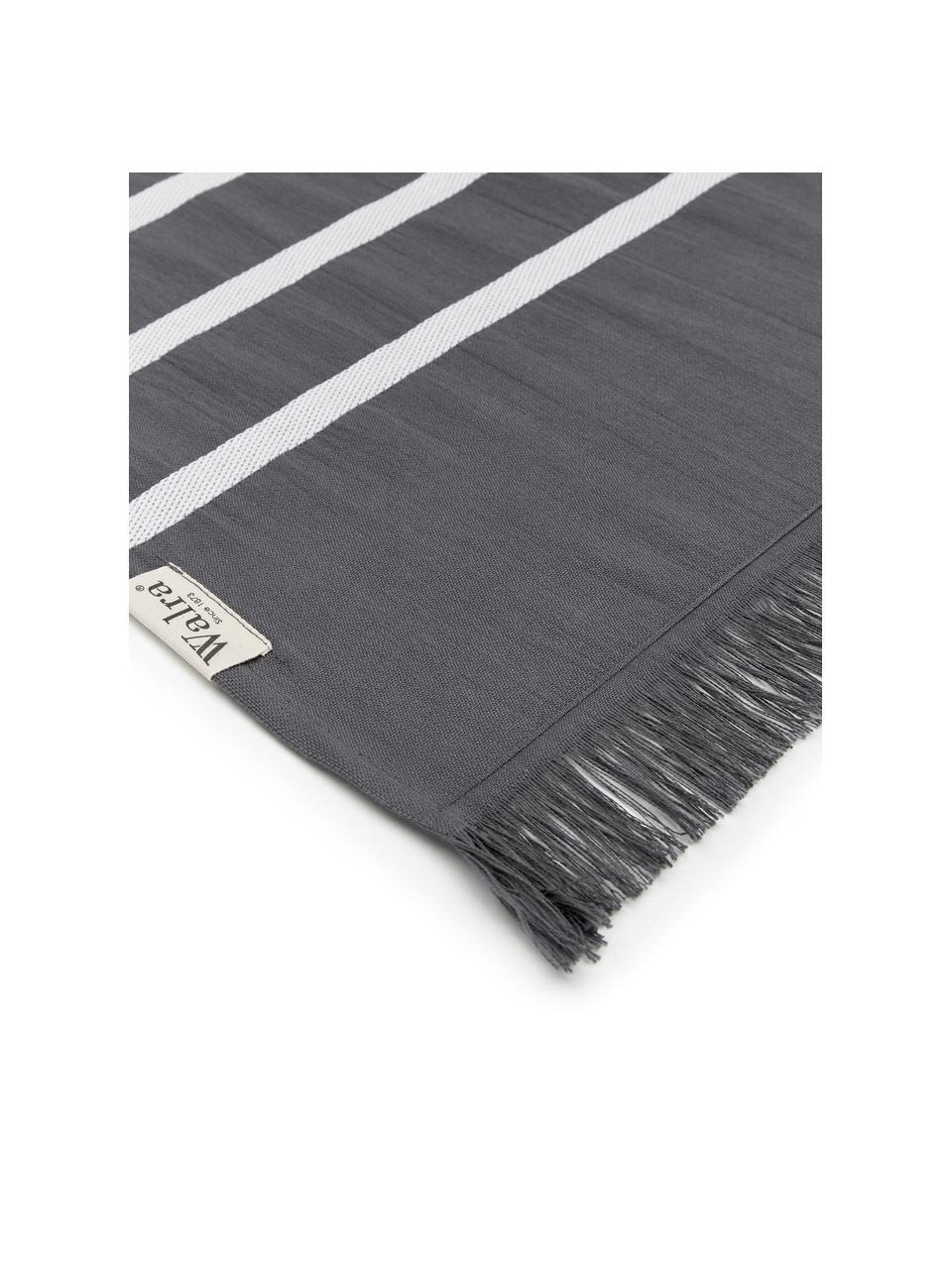Ręcznik plażowy Filena, 100% bawełna, Antracytowy, biały, S 100 x D 180 cm