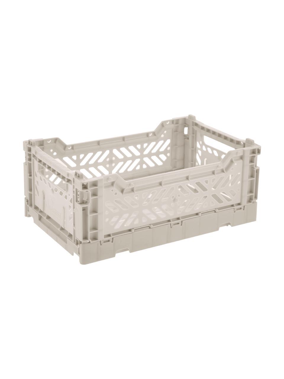 Cestino pieghevole, impilabile, piccolo Light Grey, Materiale sintetico riciclato, Grigio chiaro, Larg. 27 x Alt. 11 cm