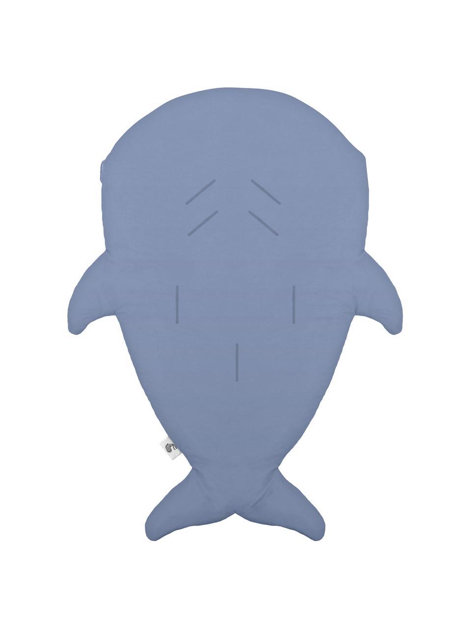 Śpiwór dla dzieci Mini Shark, Tapicerka: bawełna, produkt posiada , Niebieskoszary, S 73 x D 98 cm