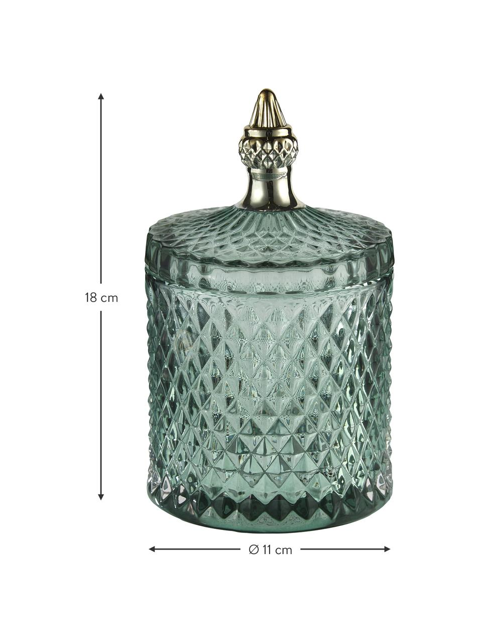 Aufbewahrungsdose Miya, Glas, Grün, Ø 11 x H 18 cm