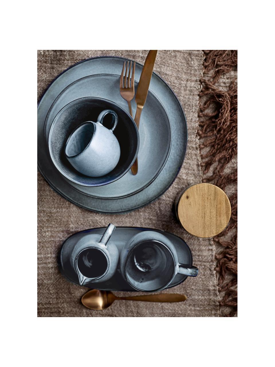 Ręcznie wykonany kubek Sandrine, Kamionka, Odcienie niebieskiego, Ø 10 x W 10 cm