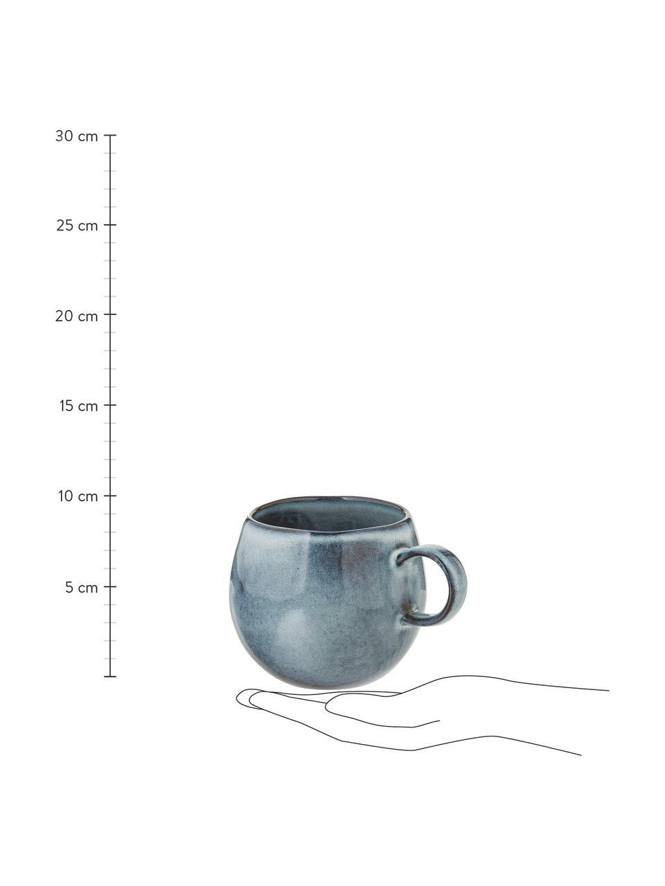 Tazza in gres blu fatta a mano Sandrine, Gres, Tonalità blu, Ø 10 x Alt. 10 cm