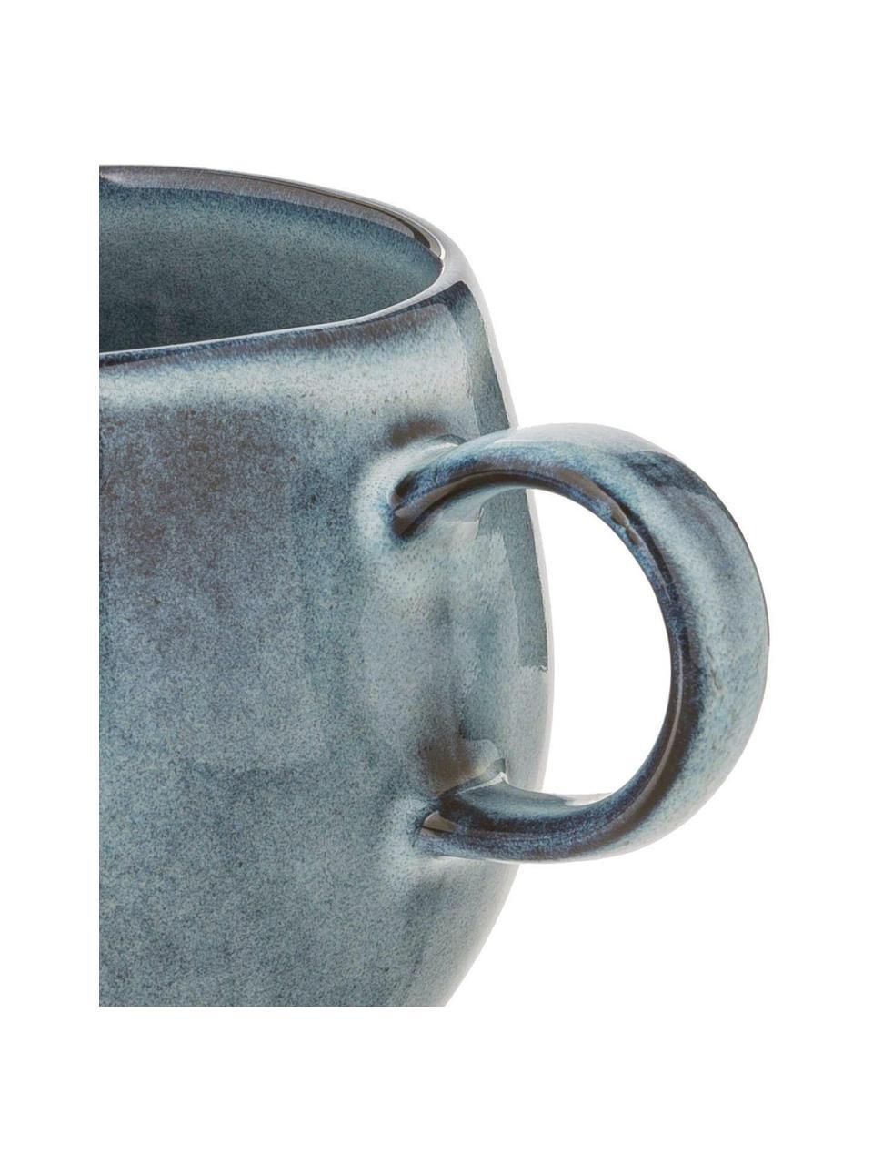 Tasse rustique émaillée Sandrine, Tons bleus