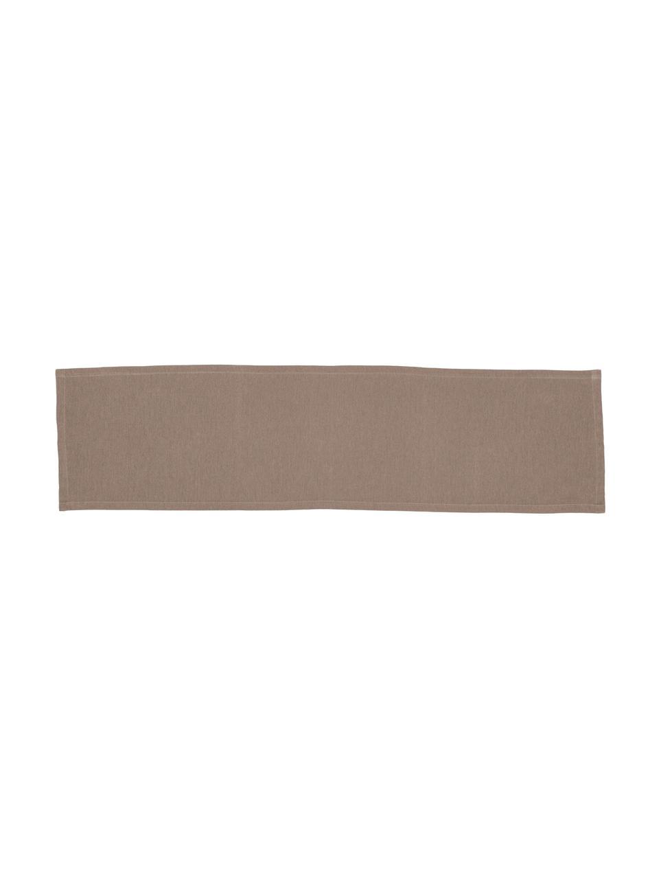 Runner in misto cotone marrone Riva, 55% cotone, 45% poliestere, Taupe, Larg. 40 x Lung. 150 cm