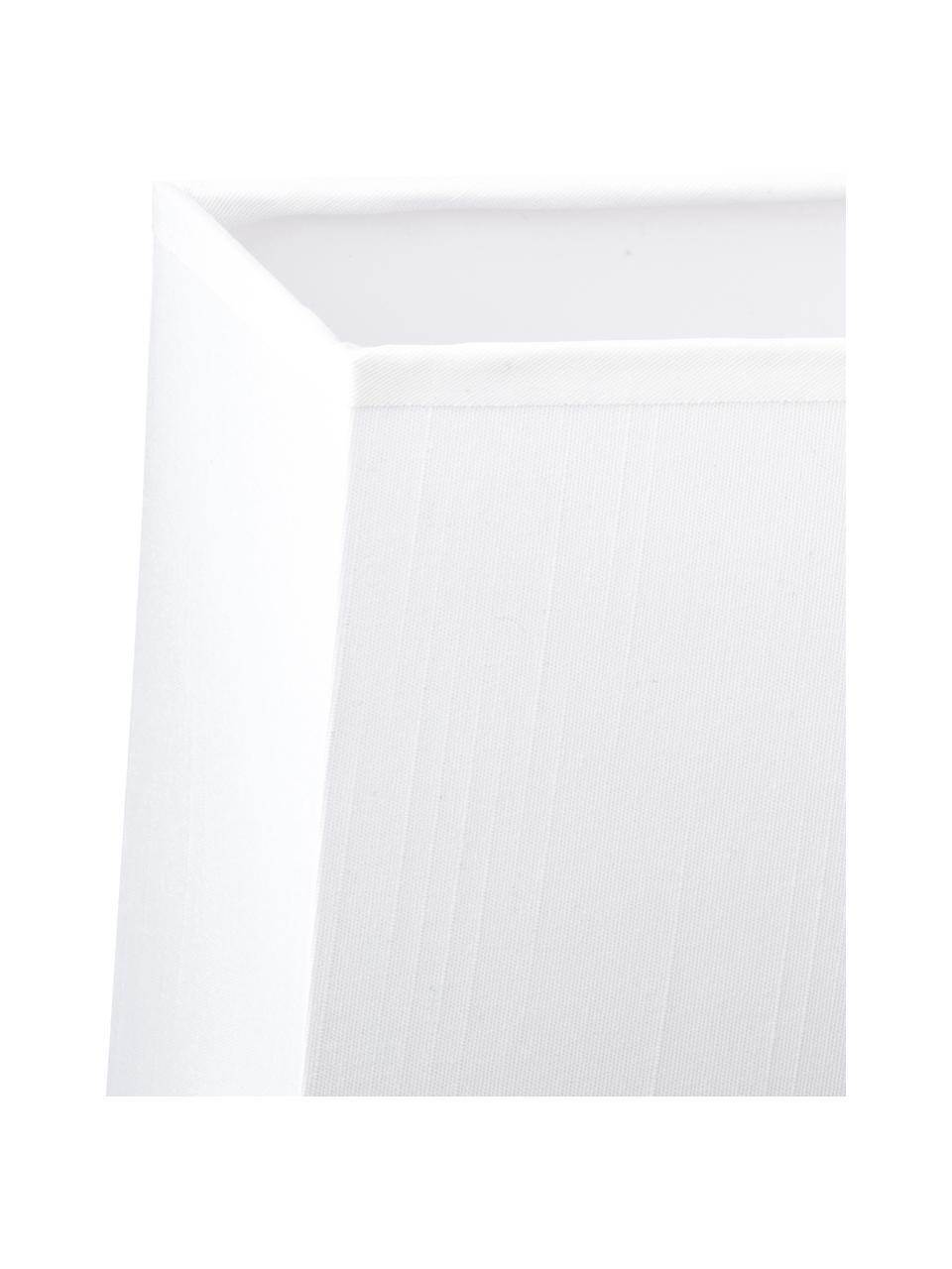 Applique Lina, Paralume: tessuto, Bianco, Larg. 20 x Alt. 25 cm