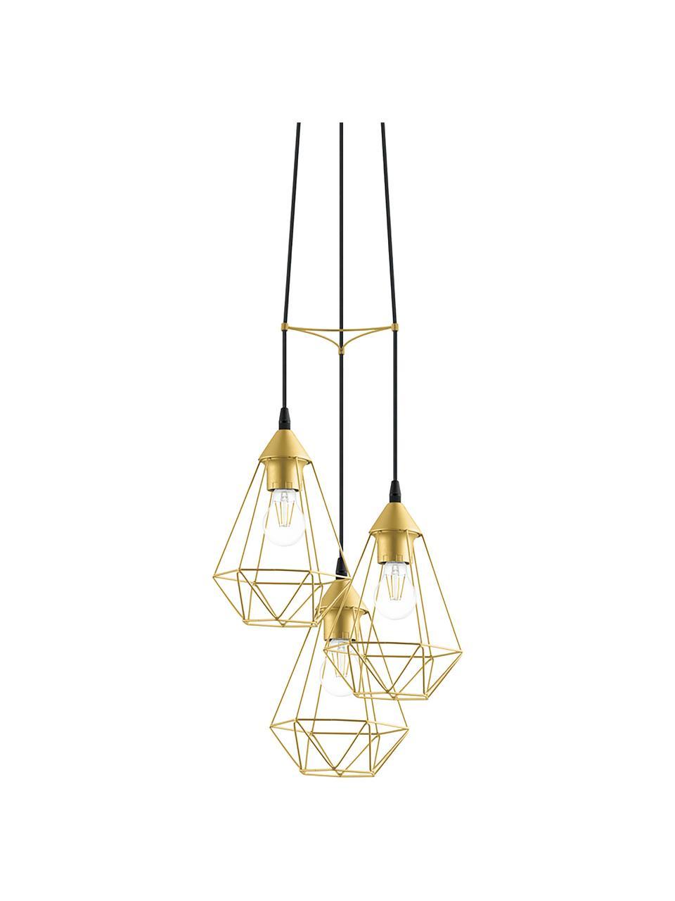 Lampada a sospensione dorata Kyle, Baldacchino: metallo spazzolato, Paralume: metallo spazzolato, Dorato, Ø 36 cm