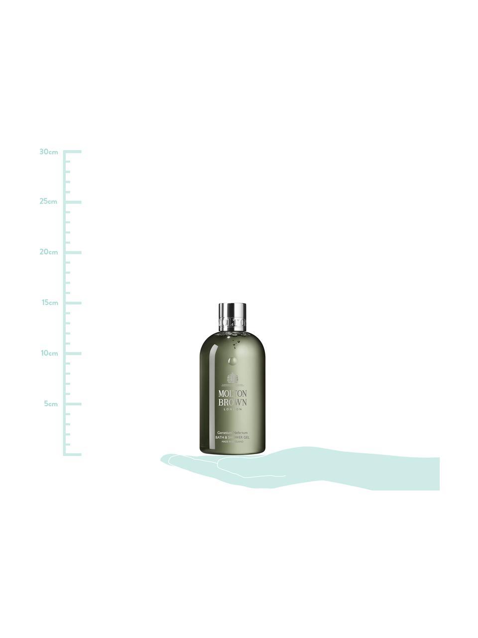Duschgel Molton (Geranium), Behälter: Recycelbarer Kunststoff, Grün, 6 x 15 cm