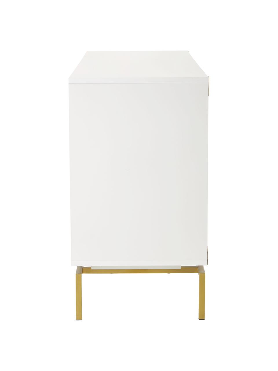 Credenza bianca Elegance, Bianco, Larg. 150 x Alt. 80 cm
