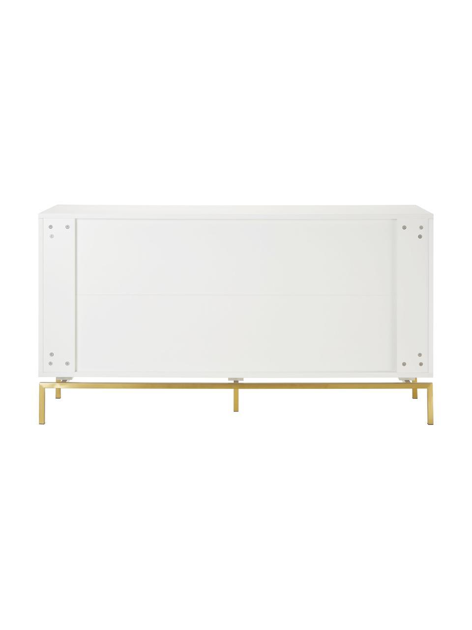 Sideboard Elegance in Weiß, Korpus: Mitteldichte Holzfaserpla, Weiß, 150 x 80 cm