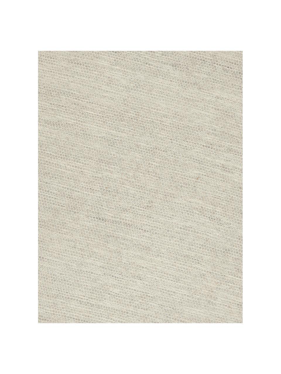 Handgewebter Wollteppich Asko in Beige/Hellgrau, meliert, Flor: 90% Wolle, 10% Baumwolle, Grau, B 200 x L 300 cm (Größe L)