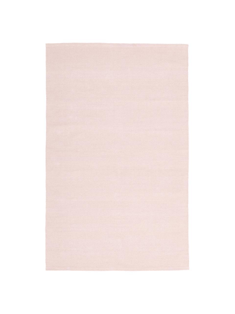 Tappeto in cotone tessuto a mano Agneta, 100% cotone, Rosa, Larg. 120 x Lung. 180 cm (taglia S)