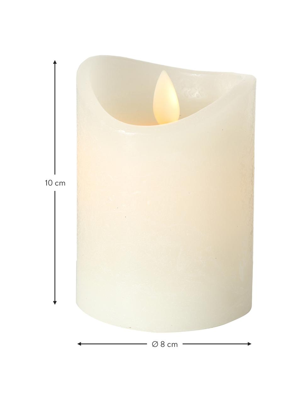 Candela a LED Bino, Color crema, Ø 8 x Alt. 10 cm
