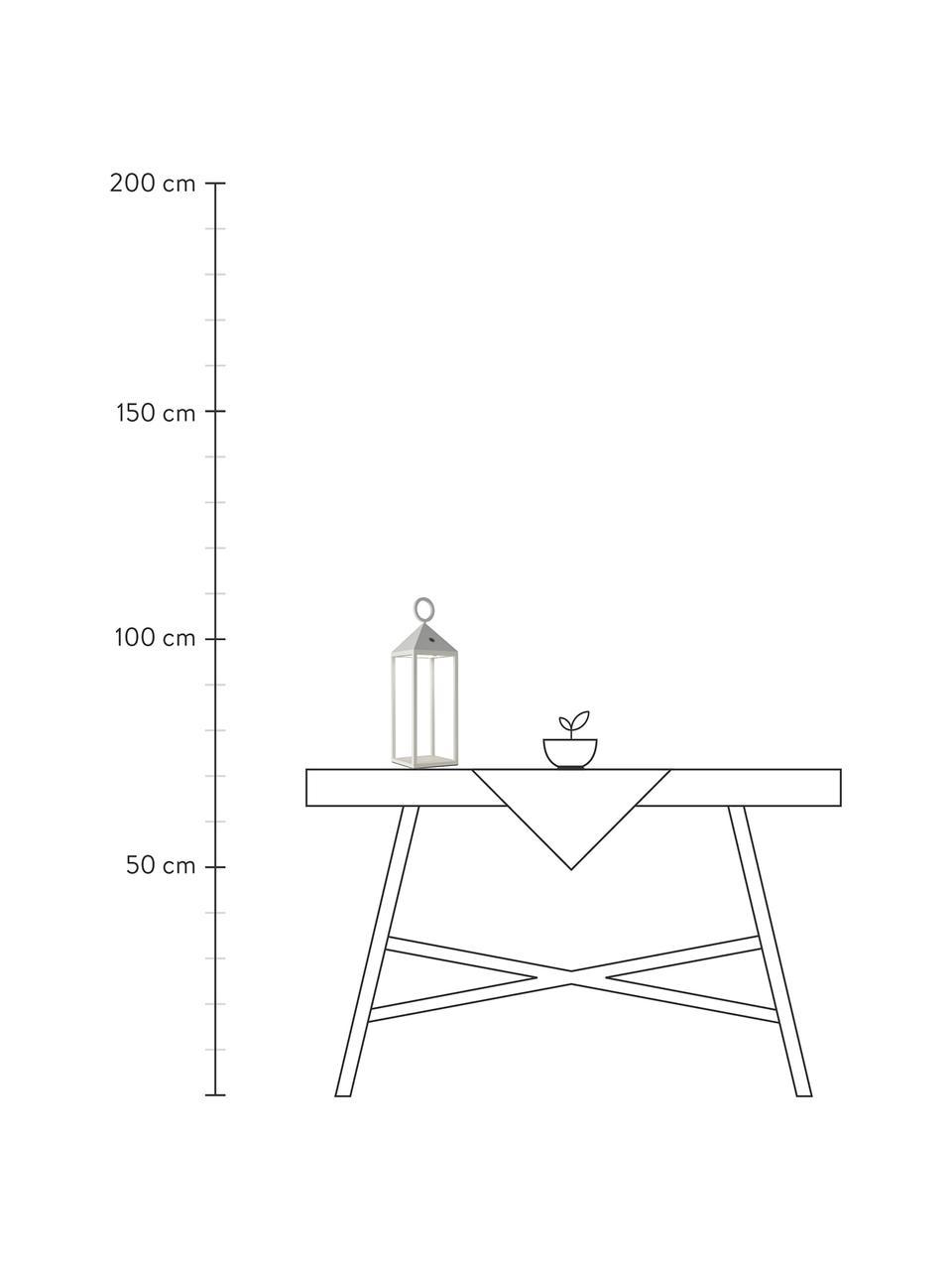 Lampada portatile e dimmerabile da esterno Cargo, Struttura: alluminio laccato, Bianco, Larg. 14 x Alt. 67 cm