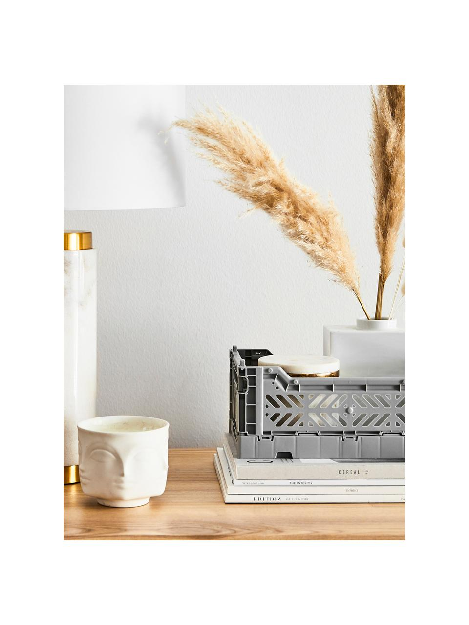 Klappbox Grey, stapelbar, klein, Recycelter Kunststoff, Grau, 27 x 11 cm