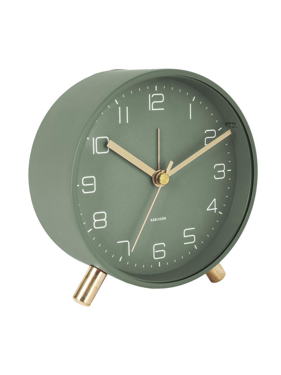 Wekker Lofty, Gelakt metaal, Groen, Ø 11 x D 5 cm