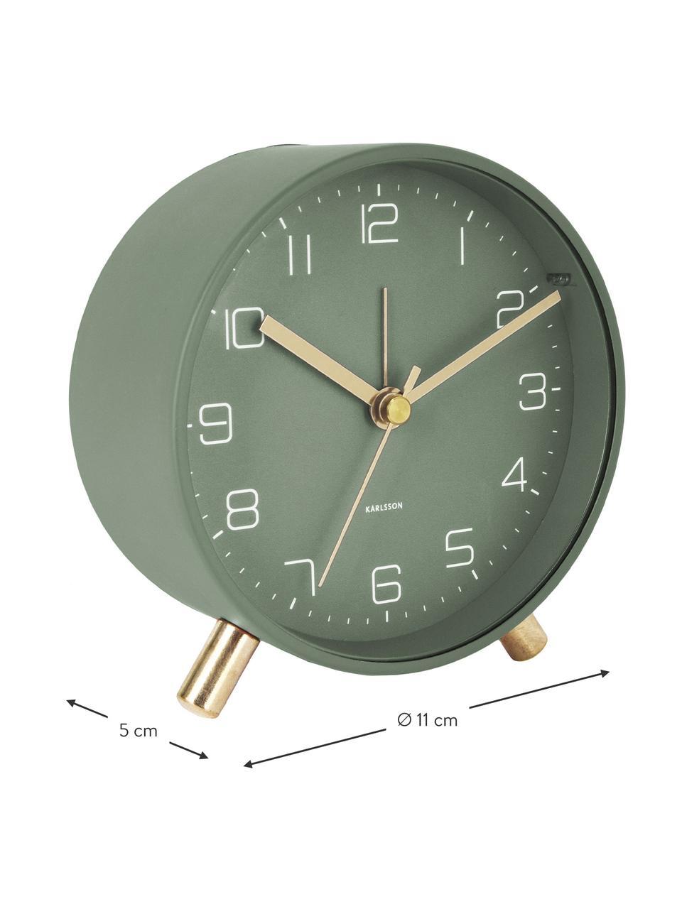 Budzik Lofty, Metal lakierowany, Zielony, Ø 11 x G 5 cm