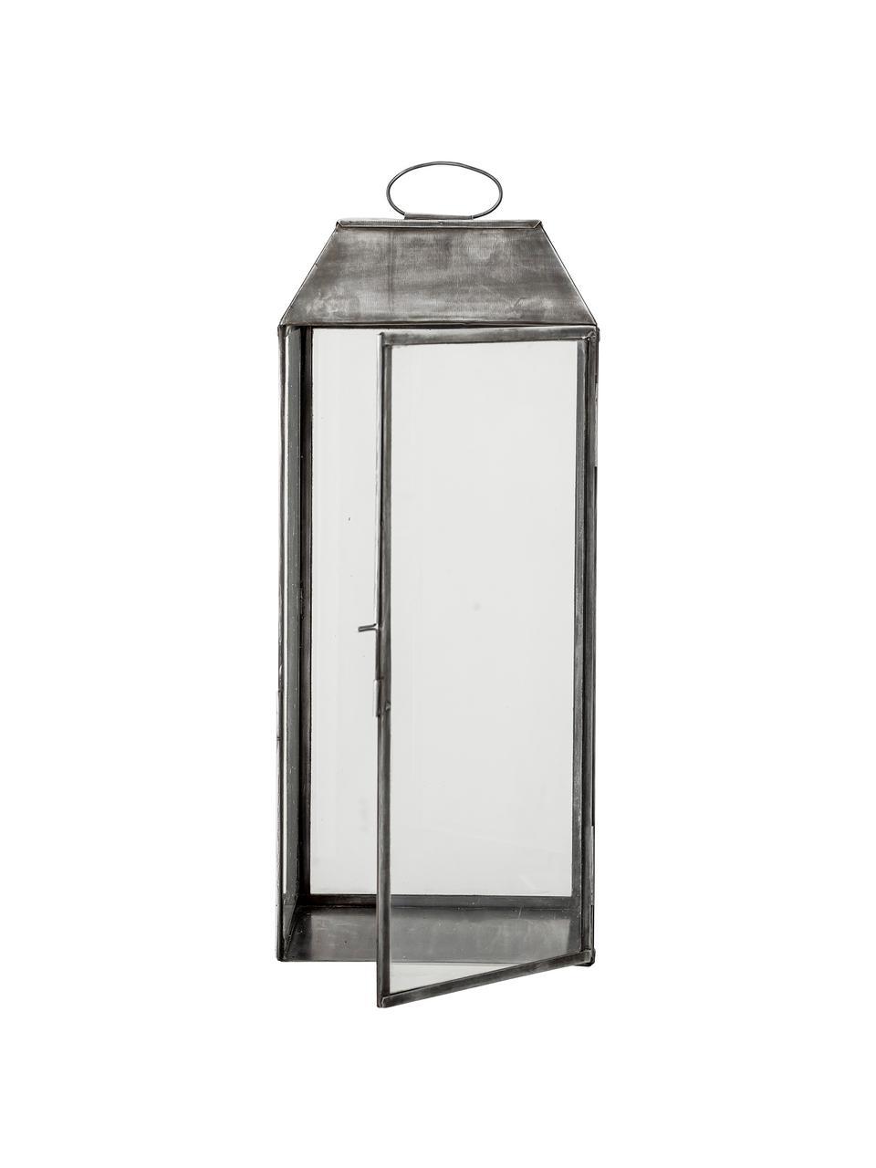 Lanterna in metallo Gagriel, Struttura: metallo, Argentato con finitura antica, Larg. 20 x Alt. 48 cm